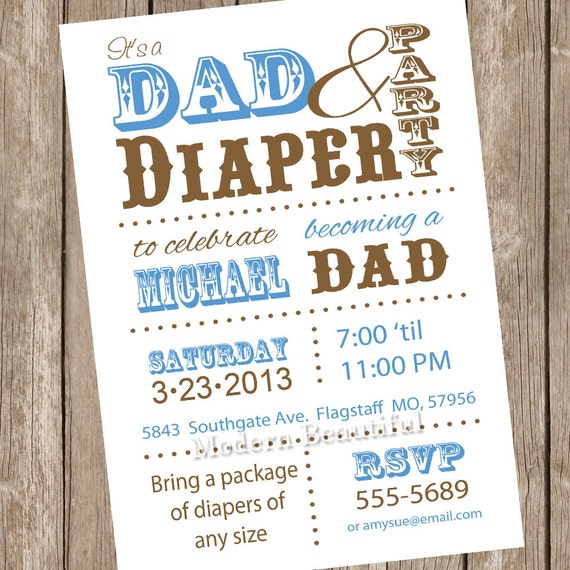 dad diaper baby shower invitation diaper baby shower dad baby shower