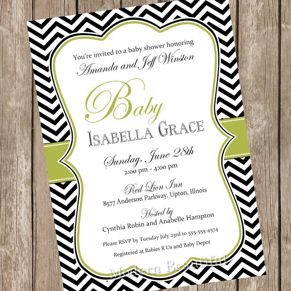 elegant baby shower invitation neutral baby shower invitation olive