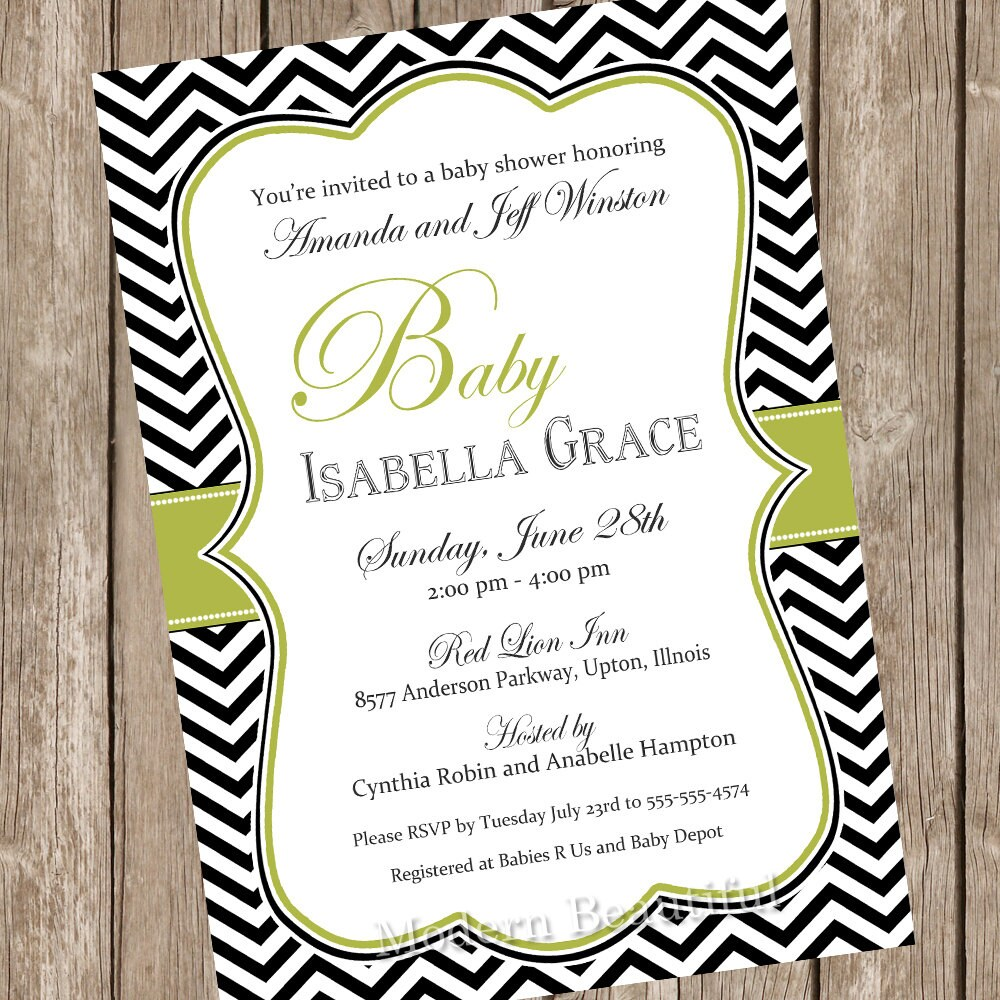 elegant baby shower  etsy, Baby shower invitations