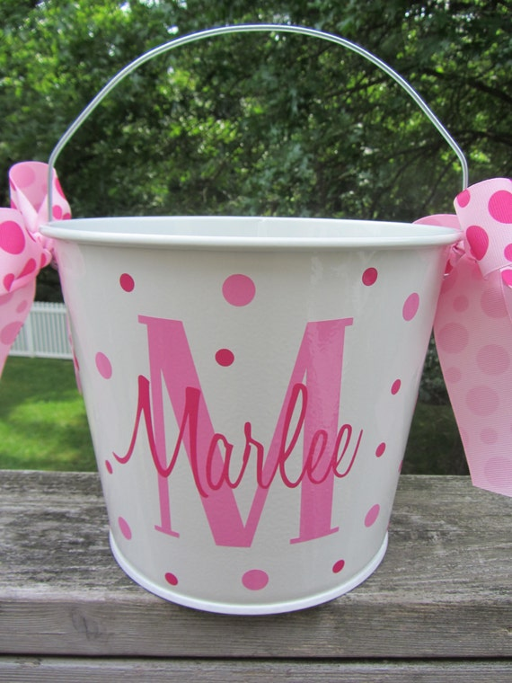 Personalized Gift Pail Easter Bucket 10 Quart By Dotteddesigns