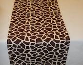 Giraffe Print Table Runner, Custom Sizes Available, Baby Shower, Bridal Shower, Wedding, Party, Zoo, Jungle, Safari, Travel