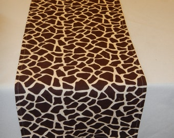 Giraffe Print Table Runner, Custom Sizes Available, Baby Shower, Bridal Shower, Wedding, Party, Zoo, Jungle, Safari, Travel