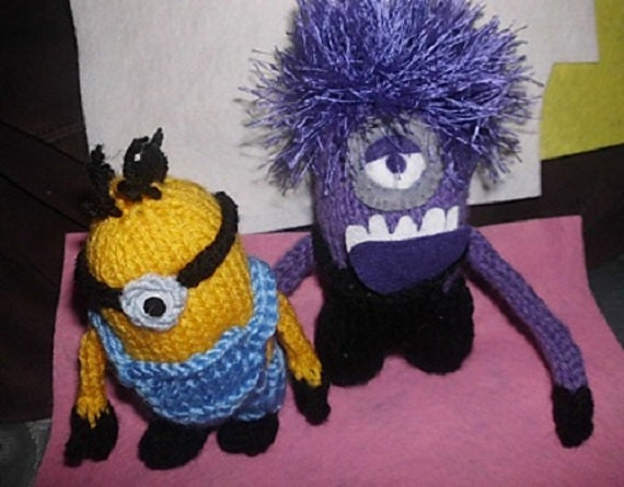 Free Knitting Patterns Baby Hat : Evil Minion Knitting Pattern Sold for Charity