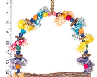 "7"" Natural Swing - Perfect for Preening - Parrot Toys & Bird Toy Parts by A Bird Toy"