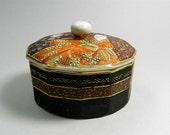 Vintage Japanese Porcelain Trinket Box Home Decor Jewelry Box