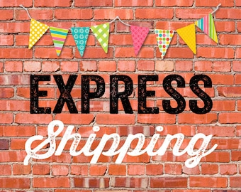 EXPRESS SHIPPING for 100 printed invitations