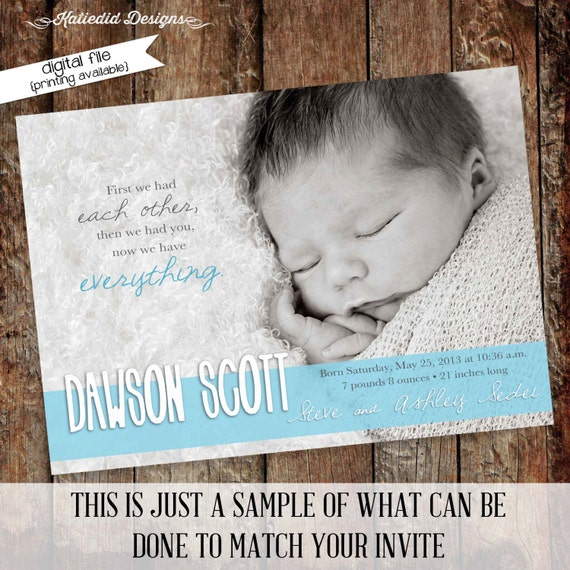 sonogram pregnancy announcement new baby photo card first communion invitation mormon baptism invitation baby blessing 409 Katiedid Designs