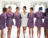 Bridesmaid Robes. Kimono. Kimono Robe. Bridal Robes. Bridesmaid Robes. Wedding. Bridesmaid's Gifts. CHOOSE your FABRIC. Knee Length.