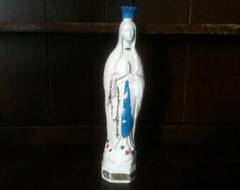 Vintage French ND DE Lourdes Holy Water Storage Bottle circa 1970-80's / English Shop