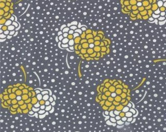 1 Fat Quarter of Simply Style Graphite Grey Dotty Mums by V and Co for Moda