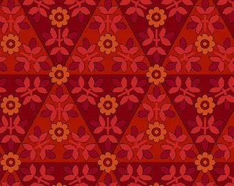 1 Yard of Anthology II Red Mosaic by Color Principle for Henry Glass
