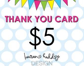 DIY, Thank You Card, A LA CARTE