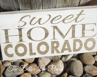 Sweet Home State Sign Wood Painted Any State