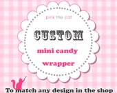 Printable Mini Candy Bar Wrappers DIY Digital File - Matching Any Design In The Shop