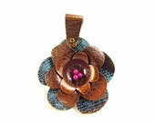 Large Layered Copper Flower Focal Pendant