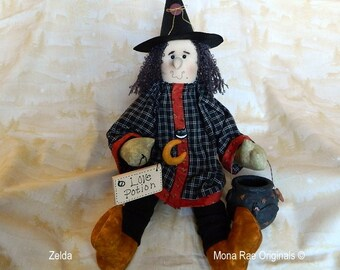 "Halloween Witch Doll - Zelda ~ 26"" Tall ~ FFCOFG"