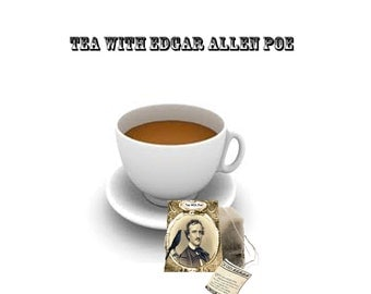 Edgar Allen Poe Printable Tea bag covers perfect for Halloween with Raven and tell tale Heart