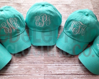 Monogrammed Baseball Hat for Ladies, Personalized Bridesmaid Gift, Baseball Cap for Women