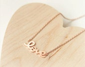 LOVE Necklace in pink gold