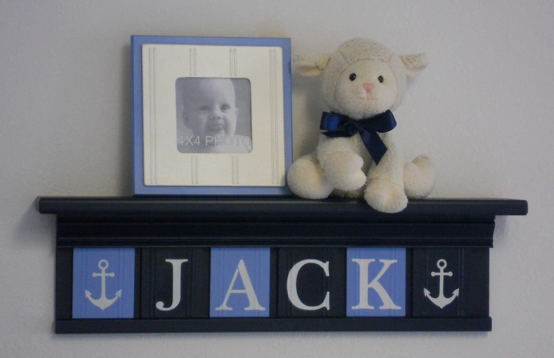 Anchor Nursery Decor Baby Boy Blue Navy Nautical Sea Decor