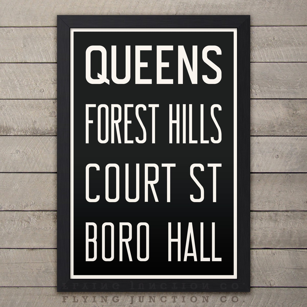 Queens Forest Hills New York City Subway Sign Bus Scroll