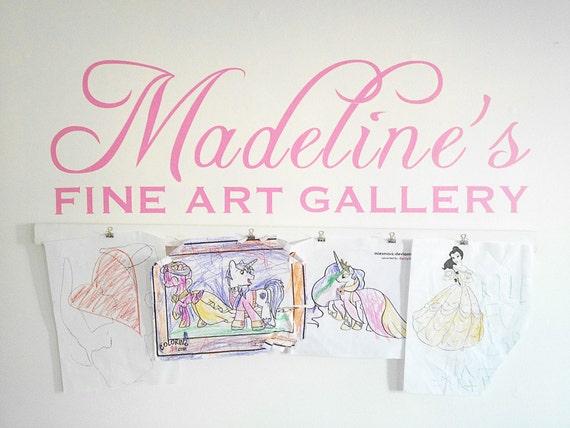 Child's Artwork Display - FINE ART GALLERY vinyl design