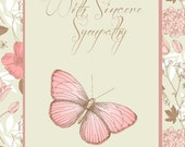 Sympathy Card - Pink Butterfly