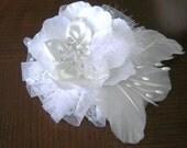 Great Gatsby Bridal Hair Fascinator, 100% Handmade