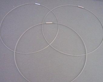 "16"" Silver Magnetic Neckwire for Pendants"