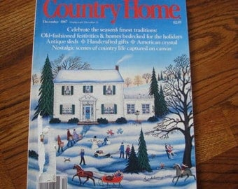 Vintage Country Home Magazine -  1987 December Issue