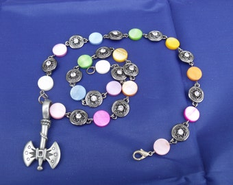 labrys pendant with rainbow