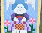 Easter Quilt pattern - Rose the Rabbit - PDF instant download
