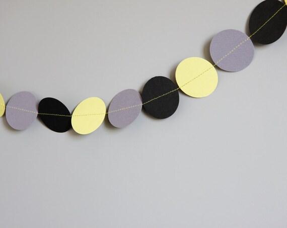 guirlande d corative vert anis violet gris et noir par lesminiboux. Black Bedroom Furniture Sets. Home Design Ideas