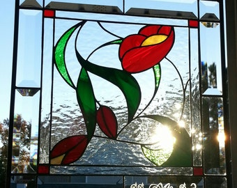 Stained Glass Floral Panel - Original Design