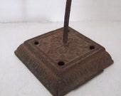 Vintage Cast Iron Base Receipt Holder Spike