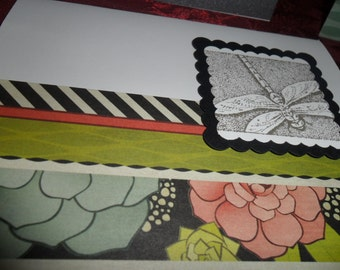 Dragonfly - set of 4 blank cards with envelopes