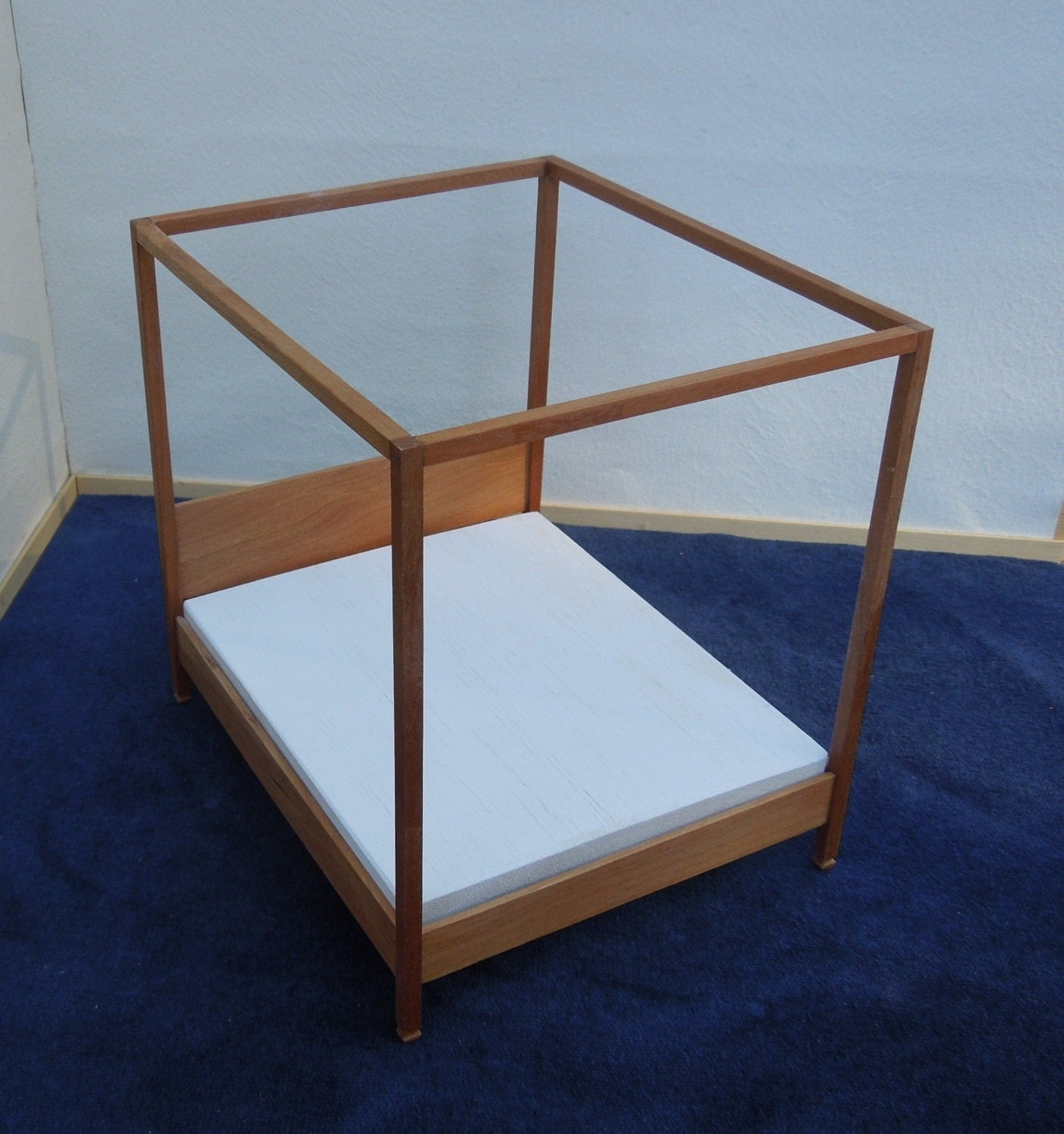 modern canopy bed in cherry 1 12 scale by minisx2 on etsy