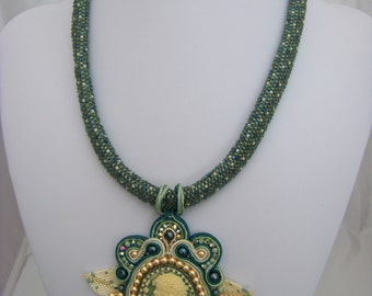 Cameo Soutache Necklace