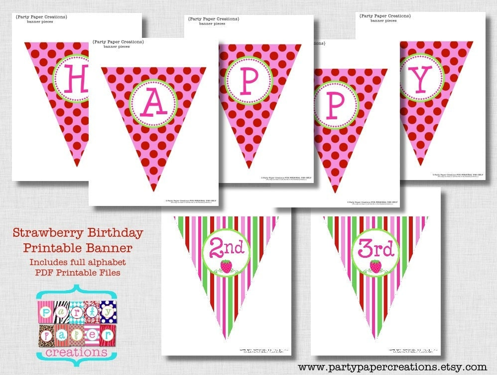 printable letters for banners strawberry birthday printable banner pdf files alphabet 24072 | il fullxfull.516710163 1050