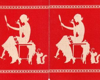 Vintage  Single Swap Playing Cards (2)  Paper Ephemera, Scrapbook