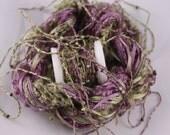 beaded thread Silk ribbon Embroidery thread seed bead sequin thread purple olive green green quilting thread beaded yarn embellishment