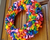 "20"" Bright Birthday Party Celebration Balloon Wreath"