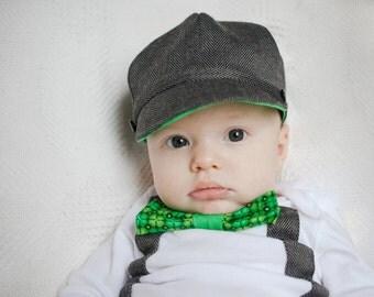 St. Patrick's Day Newsboy Cap Baby Toddler Boy Hat / Photo Prop Green