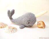PDF Crochet Pattern, Whale Pattern, Crochet Tutorial, Amigurumi Whale Pattern - Crochet Whale Pdf Tutorial, Narwhal