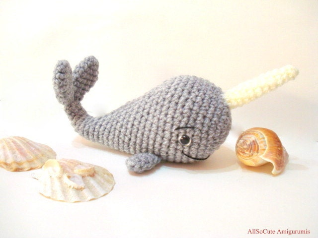 Amigurumi Christmas Ornaments Patterns : PDF Crochet Pattern Whale Pattern Crochet Tutorial