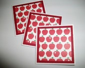 Mini Apple note cards blank gift tags personal messages