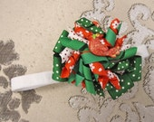 Christmas Cardinal Holiday Korker Bow Clip