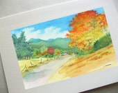 Road to Autumn Card
