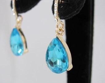 Crystals and Rhinestones Bridal  Wedding Jewelry Earrings