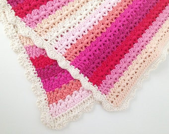 Crochet Baby Blanket Pattern - Instant Download